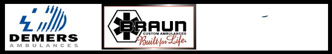 Demers, Braun, and Crestline logos